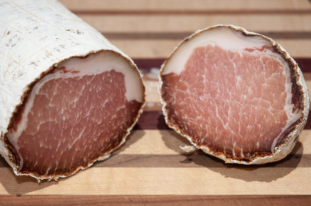 Dry cured pork loin – tasting